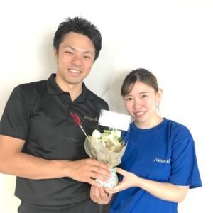 レガロス大宮店のお客様にお花をいただきました!